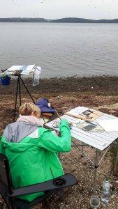 Malen auf den Boddenwiesen am Having bei Alt Reddevitz (c) FRank Koebsch (3)