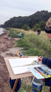 Malen auf den Boddenwiesen am Having bei Alt Reddevitz (c) FRank Koebsch (5)
