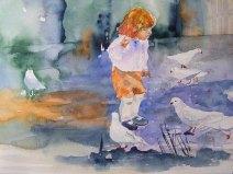 Neugierig (c) Aquarell von Hanka Koebsch