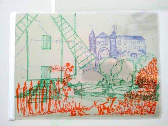 Arbeitsergebnis auf drei Folien im Workshop des BDK - Landschaftsmalerei mit FRank Koebsch (c) Ann-Christin Harder