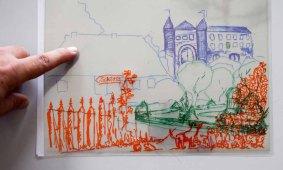 Arbeitsergebnis auf zwei Folien im Workshop des BDK - Landschaftsmalerei mit FRank Koebsch (c) Ralf Manfeufel