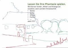 Das Foto Schulmuseum Middelhagen in die Ebenen Vorder - Mittel - Hintergrund zerlegt (c) Frank Koebsch