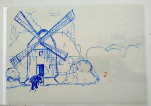 Folie - Ebene für einen Hintergrund im Workshop des BDK - Landschaftsmalerei mit FRank Koebsch (c) Ann-Christin Harder (1)