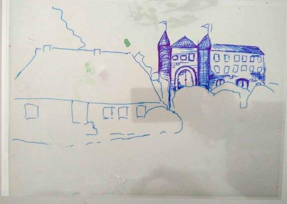 Folie - Ebene für einen Hintergrund im Workshop des BDK - Landschaftsmalerei mit FRank Koebsch (c) Ann-Christin Harder (2)