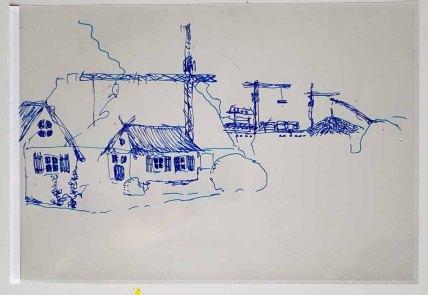 Folie - Ebene für einen Hintergrund im Workshop des BDK - Landschaftsmalerei mit FRank Koebsch (c) Frank Koebsch