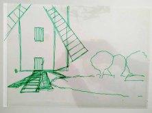 Folie - Ebene für einen Mittelgrund im Workshop des BDK - Landschaftsmalerei mit FRank Koebsch (c) Ann-Christin Harder (1)