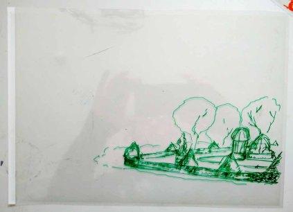 Folie - Ebene für einen Mittelgrund im Workshop des BDK - Landschaftsmalerei mit FRank Koebsch (c) Ann-Christin Harder (2)