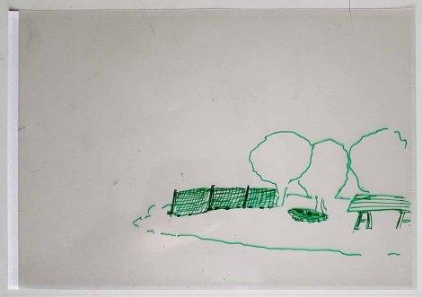 Folie - Ebene für einen Mittelgrund im Workshop des BDK - Landschaftsmalerei mit FRank Koebsch (c) Frank Koebsch