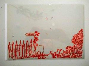Folie - Ebene für einen Vordergrund im Workshop des BDK - Landschaftsmalerei mit FRank Koebsch (c) Ann-Christin Harder