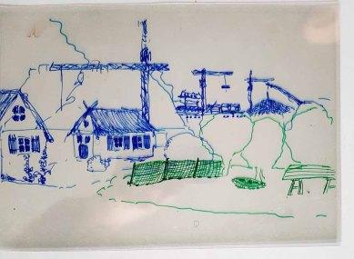 Folien - Ebenen mit einem Mittel- und einem Hintergrund im Workshop des BDK - Landschaftsmalerei mit FRank Koebsch (c) Frank Koebsch