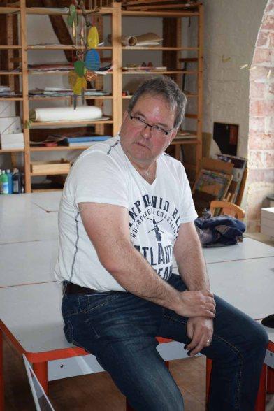 Frank Koebsch im Workshop des BDK - Landschaftsmalerei (c) Ralf Manfeufel