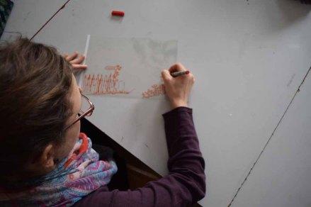 Teilnehmerinnen im Workshop des BDK - Landschaftsmalerei mit FRank Koebsch (c) Ralf Manfeufel (1)