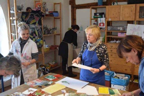 Workshop des BDK - Gelatine Druck mit Christine Donath (c) Ralf Manteufel (3)
