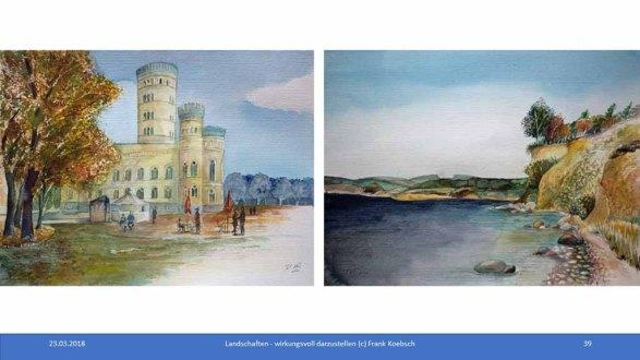 Workshop des BDK - Landschaften wirkungsvoll gestalten - Rüggen Aquarelle (c) FRank Koebsch(5)