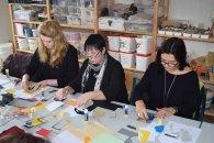 Workshop des BDK - Von der Collage zur Malerei mit Sylvia Dallmann (c) Ralf Manteufel (1)
