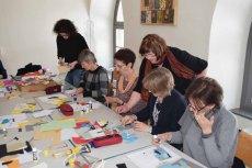 Workshop des BDK - Von der Collage zur Malerei mit Sylvia Dallmann (c) Ralf Manteufel (4)