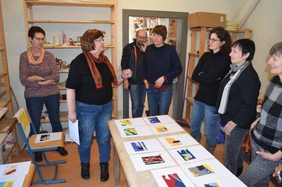 Workshop des BDK - Von der Collage zur Malerei mit Sylvia Dallmann (c) Ralf Manteufel (8)
