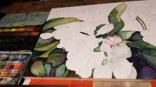 Apfelblüten entstehen auf Hahnemühle Aquarellpapier Leonardo matt (c) FRank Koebsch (3)