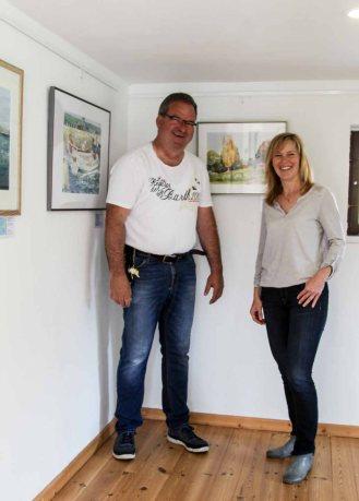 Gerit Höhne-Grünheid und FRank Koebsch in der Ausstellung Faszination Mönchgut (c) Jost Grünheid
