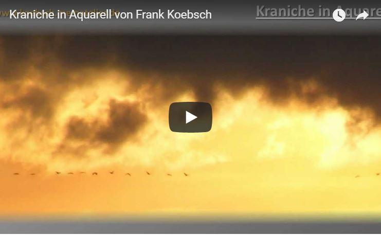 Kraniche in Aquarell - Video