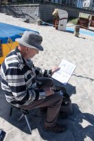 Plein Air Festival 2018 - Aquarellmaler am Strand von Kühlungsborn (c) Frank Koebsch (1)