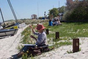 Plein Air Festival 2018 - Aquarellmaler am Strand von Kühlungsborn (c) Frank Koebsch (2)