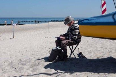 Plein Air Festival 2018 - Aquarellmaler am Strand von Kühlungsborn (c) Frank Koebsch (4)