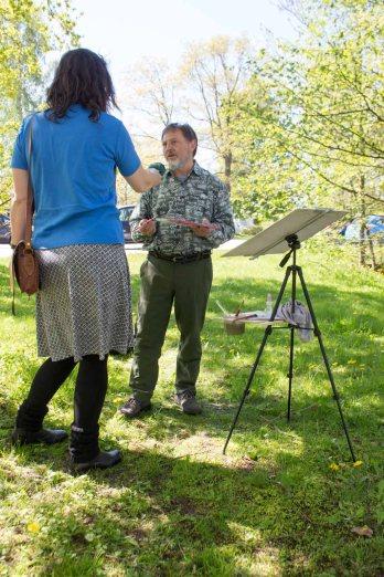 Plein Air Festival 2018 - Frau Bülow im Gespräch mit Henry Schallenberg (c) Frank Koebsch (1)