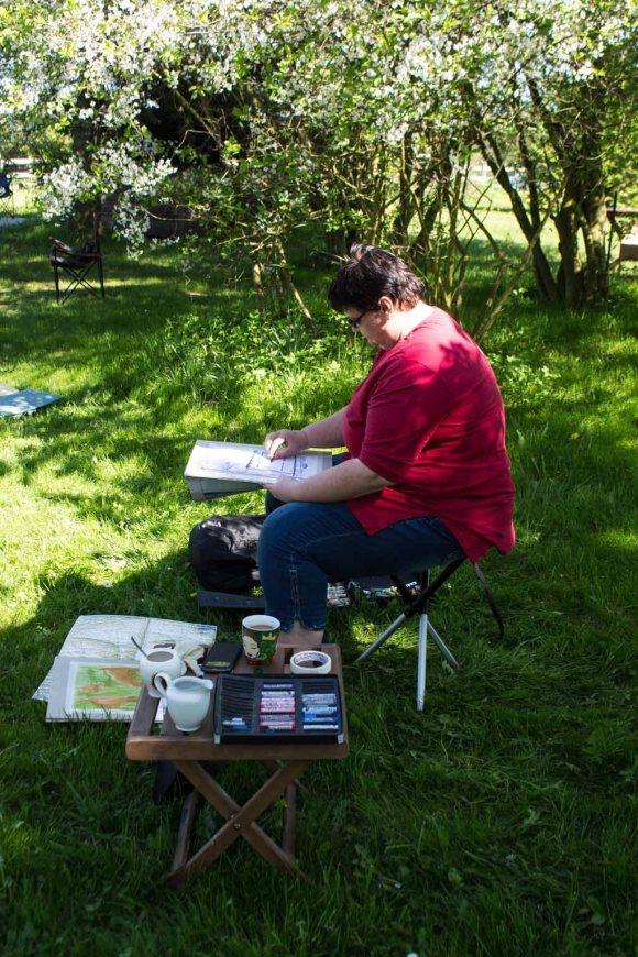 Plein Air Festival 2018 - Pastellmaler in der Alten Büdnerei (c) Frank Koebsch (12)