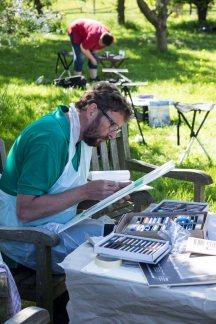 Plein Air Festival 2018 - Pastellmaler in der Alten Büdnerei (c) Frank Koebsch (7)