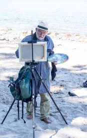 Plein Air Festival 2018 - Thomas Freund malt am Strand von Heiligendamm (c) Frank Koebsch (1)