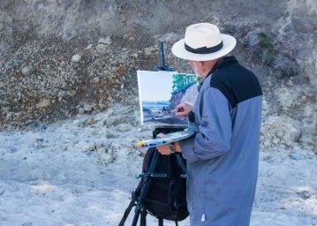 Plein Air Festival 2018 - Thomas Freund malt am Strand von Heiligendamm (c) Frank Koebsch (2)