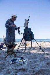 Plein Air Festival 2018 - Thomas Freund malt am Strand von Heiligendamm (c) Frank Koebsch (4)