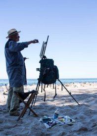 Plein Air Festival 2018 - Thomas Freund malt am Strand von Heiligendamm (c) Frank Koebsch (7)