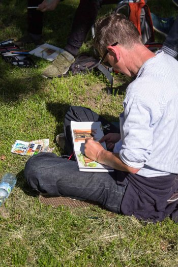 Plein Air Festival 2018 Urban Sketcher beim Münster Bad Doberan (c) Frank Koebsch (10)