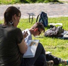 Plein Air Festival 2018 Urban Sketcher beim Münster Bad Doberan (c) Frank Koebsch (11)