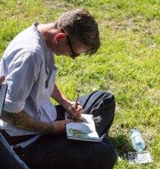Plein Air Festival 2018 Urban Sketcher beim Münster Bad Doberan (c) Frank Koebsch (12)