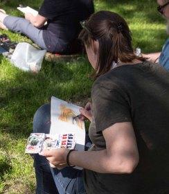 Plein Air Festival 2018 Urban Sketcher beim Münster Bad Doberan (c) Frank Koebsch (13)