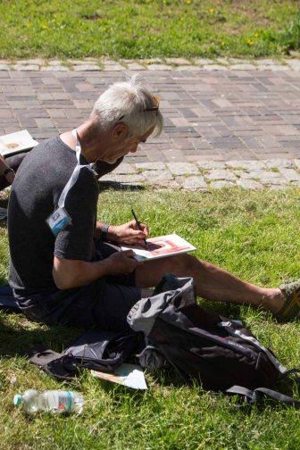 Plein Air Festival 2018 Urban Sketcher beim Münster Bad Doberan (c) Frank Koebsch (14)
