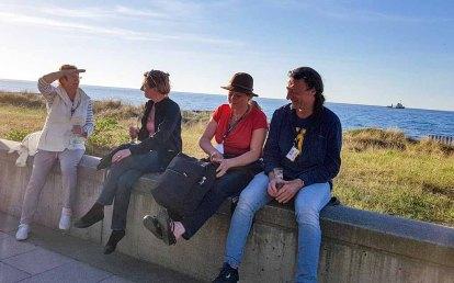 Plein Air Festival – Malen an der Ostsee 2018 - Karin Kuthe, Anke Gruss, Sonja Jannichsen und Jens Hübner auf der Promenade von Kühlungsborn © Frank Koebsch