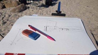 Überlegungen zum Bildaufbau - eine Skizze kann helfen (c) Frank Koebsch