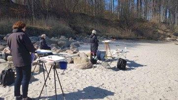 Malen am Strand von Heiligendamm (c) Frank Koebsch (1)