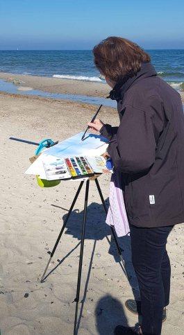 Malen am Strand von Heiligendamm (c) Frank Koebsch (3)