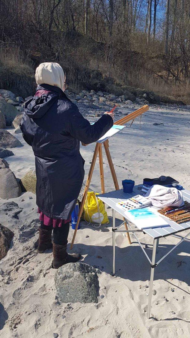 Malen am Strand von Heiligendamm (c) Frank Koebsch (4)