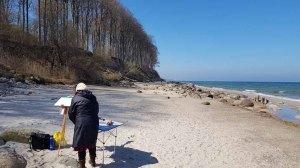 Malen am Strand von Heiligendamm (c) Frank Koebsch (5)