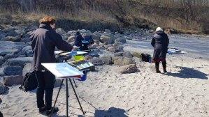 Malen am Strand von Heiligendamm (c) Frank Koebsch (6)