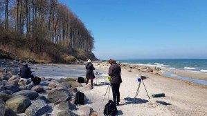 Malen am Strand von Heiligendamm (c) Frank Koebsch (7)
