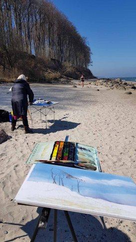 Malen am Strand von Heiligendamm (c) Frank Koebsch (8)