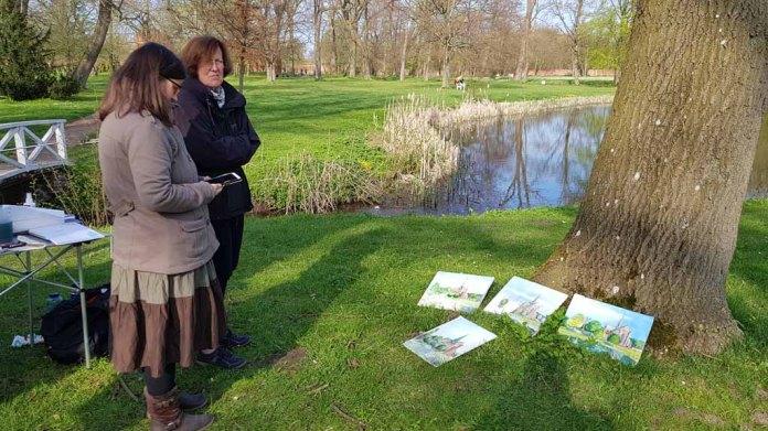Malen im Park des Doberaner Münsters (c) Frank Koebsch (4)