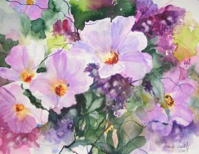 o.T. 3 © ein Blumen Aquarell von Hanka Koebsch